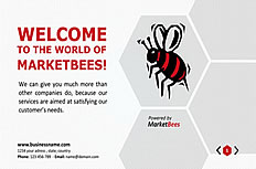 Bees honeycomb Europe Business ppt template