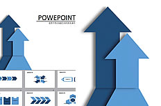 Blue arrow dynamic business ppt templates download