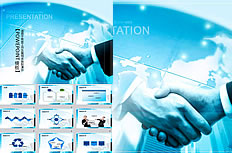 Blue business ppt templates work report