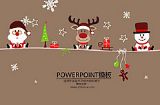 Cartoon Christmas theme ppt template