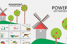 Cartoon orchard ppt template download