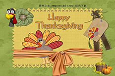 Cute Thanksgiving ppt template background