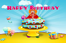 Dynamic birthday ppt template