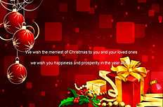 Exquisite gift box Christmas ppt template