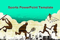 Foreign sports sports ppt template
