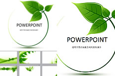 Green low-carbon environment ppt template download