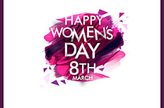 Happy Women's Day ppt template