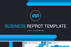 Jian Jie black and blue business ppt templates
