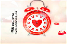 Love time clock memory ppt template