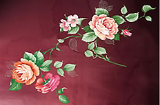 Peony Chinese wind ppt template