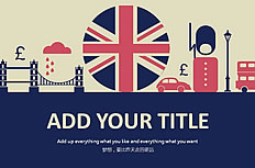 Retro British style dynamic template ppt