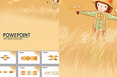 Scarecrow illustration ppt background image download
