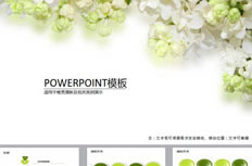 Simple and elegant flowers ppt template