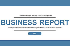 Simple blue Business PPT template