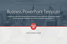 Stable atmosphere business style ppt template